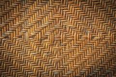 Vecchio handcraft il tessuto del rattan Fotografie Stock