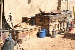 Vecchio hardware ad ovest dell'accampamento di estrazione mineraria Fotografia Stock