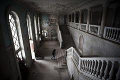 Vecchio hotel abbandonato Immagine Stock Libera da Diritti