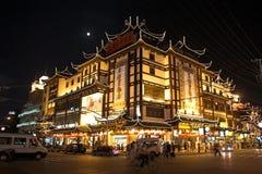 Vecchio hotel di Schang-Hai Fotografia Stock Libera da Diritti