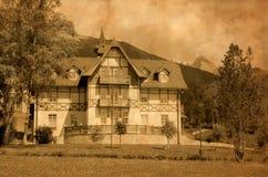 Vecchio hotel in Slovacchia. immagine stock libera da diritti