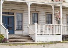 Vecchio hotel in una città di California del Nord Fotografia Stock Libera da Diritti
