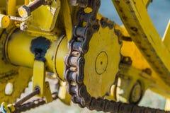 vecchio ingranaggio giallo d'annata del dente Fotografie Stock Libere da Diritti
