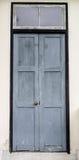 Vecchio ingresso di legno Fotografia Stock