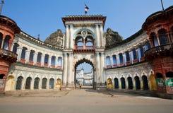 Vecchio ingresso pittoresco con gli arché Fotografia Stock Libera da Diritti