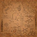 Vecchio insieme del modello del laboratorio di chimica royalty illustrazione gratis