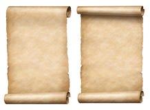Vecchio insieme di carta dell'illustrazione delle pergamene o dei rotoli 3d illustrazione vettoriale