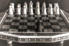 Vecchio insieme di scacchi Immagini Stock