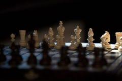Vecchio insieme di scacchi fotografia stock libera da diritti