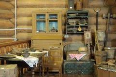 Vecchio interiore di legno della Camera Fotografia Stock Libera da Diritti