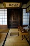 Vecchio interiore giapponese della Camera Immagini Stock Libere da Diritti