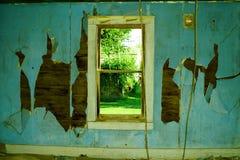 Vecchio interiore verde Fotografie Stock Libere da Diritti