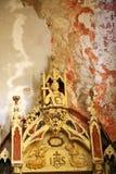 vecchio interno della parte interna demolito chiesa Immagini Stock Libere da Diritti