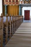 Vecchio interno olandese della chiesa Fotografie Stock Libere da Diritti