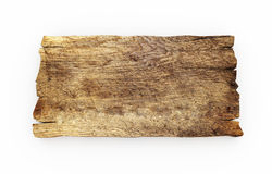 Vecchio isolato del bordo di legno Immagine Stock