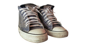 Vecchio isolato della scarpa Fotografia Stock Libera da Diritti