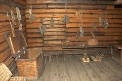 Vecchio izba russo Immagini Stock Libere da Diritti