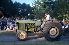 Vecchio John Deere verde Fotografia Stock Libera da Diritti