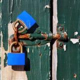 Vecchio keylock della ruggine Immagine Stock