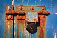 Vecchio keylock della ruggine Fotografia Stock Libera da Diritti