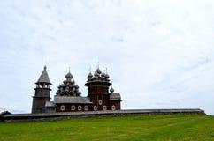 Vecchio Kizhi di legno Pogost Carelia Russia fotografia stock