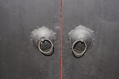 Vecchio koncker cinese della porta fotografie stock libere da diritti