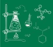 Vecchio laboratorio di chimica e di scienza Fotografia Stock Libera da Diritti