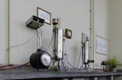 Vecchio laboratorio, laboratorio di thermotechnics Fotografia Stock