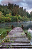 Vecchio lago Ard del molo Immagini Stock