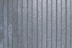 Vecchio lamiera galvanizzato a strisce Fotografia Stock