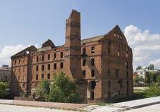 Vecchio laminatoio a Volgograd Immagini Stock Libere da Diritti