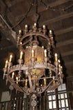 Vecchio lampadario a bracci Fotografia Stock Libera da Diritti