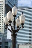 Vecchio, lanterna di soc-realismo nel centro di Varsavia Fotografia Stock Libera da Diritti