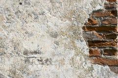 Vecchio lavoro di muratura, intonaco Fotografie Stock Libere da Diritti