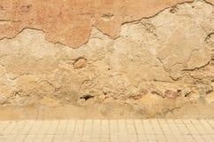 Vecchio lavoro in pietra stagionato Fotografia Stock