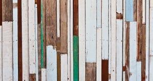 Vecchio legno ad una parete Fotografie Stock Libere da Diritti