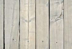Vecchio legno bianco o modello decorativo d'annata di legno del fondo di superficie del pavimento o della parete della plancia Un fotografia stock