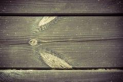 Vecchio legno con la fine del nodo su Immagini Stock Libere da Diritti