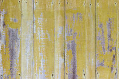 Vecchio legno del fondo giallo Fotografie Stock Libere da Diritti