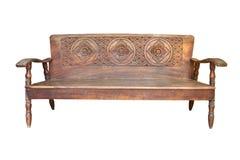 Vecchio legno del sofà Fotografia Stock Libera da Diritti