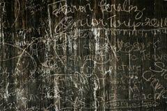 Vecchio legno graffiato Fotografia Stock