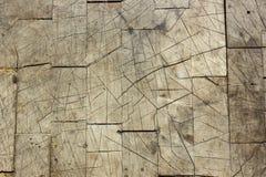 Vecchio legno indossato incrinato Immagini Stock