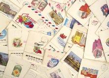Vecchio letters.background Immagini Stock Libere da Diritti