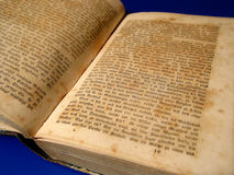 Vecchio libro (1789!) fotografie stock libere da diritti