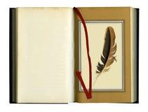 Vecchio libro aperto fotografie stock libere da diritti