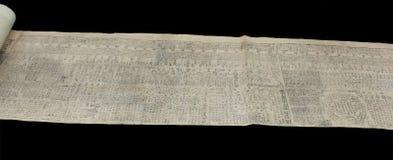 Vecchio libro cinese dell'almanacco Fotografia Stock Libera da Diritti