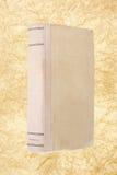 Vecchio libro con documento sgualcito Fotografia Stock