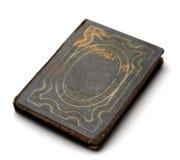 Vecchio libro con la copertura scolpita Fotografia Stock