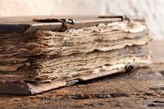 Vecchio libro del vangelo Fotografia Stock