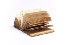 Vecchio libro dell'annata su bianco Immagine Stock